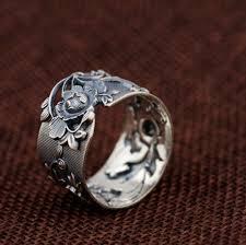 flower rings images Vintage gardenia flower ring in pure 990 silver lifeisnowemporium jpg