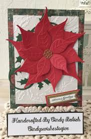 griffin christmas cards christmas card made with griffin poinsettia embossing