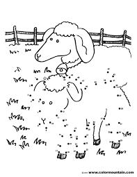 lamb activity coloring page create a printout or activity