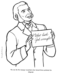 Samuel Morse Coloring Pages American History People 048 Samuel Coloring Pages
