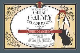 great gatsby party invitations ideas printable eysachsephoto com