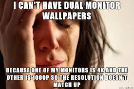 Meme Monitor - dual monitor problems meme on imgur