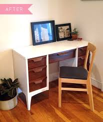 before u0026 after a midcentury desk gets a fresh new look u2013 design