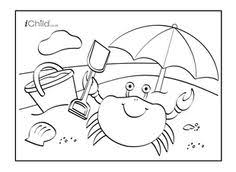 image result seaside colouring pages craft activities