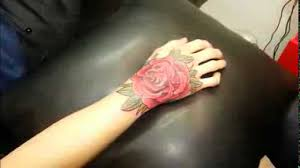 타투스킬 tattooskill rose tattoo back of one u0027s hand youtube