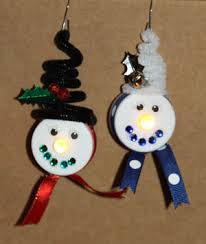tealight snowman with ear muffs craft