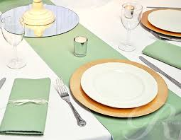 sage green table runner table runners and napkins in sage green table linen and napkin hire