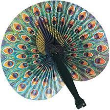 peacock fan paper fan peacock peacock fans