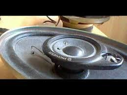 pioneer 4x6 test pioneer speaker unit ts 4638 4ω 60w 4x6