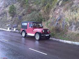 open jeep modified in white colour my li u0027l red mahindra thar with some practical modifications team bhp