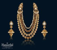 elegant gold necklace designs images Check the exclusive and elegant gold necklaces by hazoorilal jpg