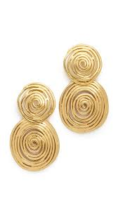 gas earrings lyst gas bijoux wave earrings in metallic