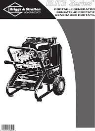 briggs u0026 stratton portable generator 01894 user guide