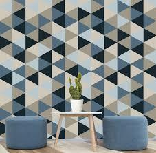 self adhesive wallpaper blue geometric removable wallpaper blue navy creams self adhesive