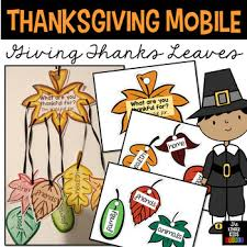 thanksgiving mobile craft giving thanks leaves by the kinder