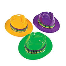 mardi gras hat mardi gras gangster hats 1 dozen bulk kitchen dining