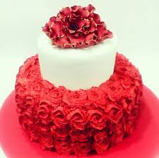 Red Rose Ombre Floral Cakes Birthday Cakes Decorated Cakes