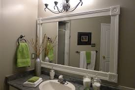 Bathroom Vanities Mirrors Bathroom Vanity With Custom Mirror Frame Contemporary Bathroom