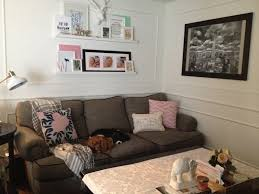 how to create a ledge gallery wall at home with ashley
