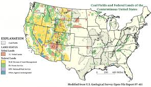 map of us federal states federal coal in the united states digital database of coal