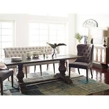 Dining Room Banquette Seating Andrea French Country Tufted Sand Long Dining Bench Banquette