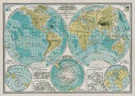 cavallini hemisphere map wrapping paper paper source