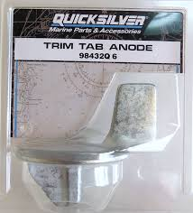 amazon com quicksilver mercury trim tab zinc anode 25 hp and