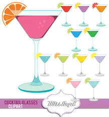 martinis clipart martini glasses clipart colorful digital cocktail glasses drinks