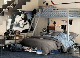 Boys Bedroom Themes by White Blue Colors Dashes Pattern Covered Bedding Sheets Boys