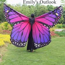 colorful butterfly belly wings for children with