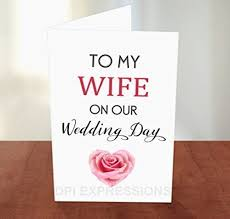 To My Groom On Our Wedding Day Card Amazon Com To My Wife On Our Wedding Day Hearts Greeting Card