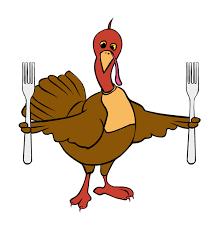 clip thanksgiving turkey forks hanslodge cliparts