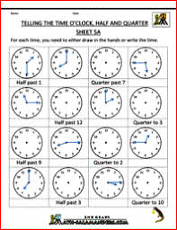 telling time assessment worksheet time worksheets telling the time half past quarter to etc