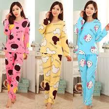 2017 sale casual cotton pajamas sets sleeve mickey
