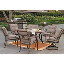 Outdoor Furniture At Sears by Garden Oasis A014f10 A024f10 A44t63 7 Pc Dining Set Milano