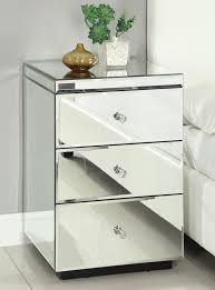 bedside table rio crystal mirrored bedside table chest nightstand mirror furniture