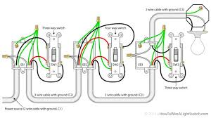 wiring diagrams three switch light 2 way domestic lighting
