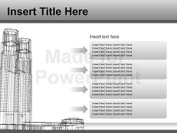 architecture powerpoint template editable vector graphics
