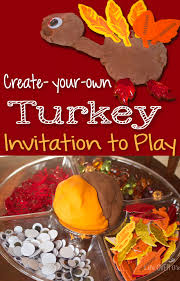 create a turkey play dough printable for thanksgiving