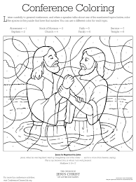 jesus baptism by john the baptist coloring pages in page