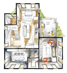 Interior Design Sketches by Real Estate Watercolor 3d Floor Plan I On Behance Architectural