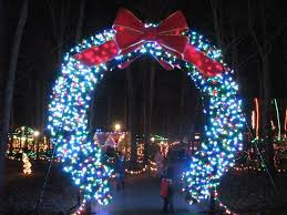 delightful picture of gate entrance lighted led
