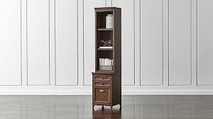bookcase with file cabinet harrison 18quot cognac bookcase with filing cabinet base crate and