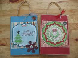 my stamping studio christmas gift bag decorating