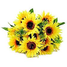 sunflower bouquet simulation flower lotus flower 7 heads artificial
