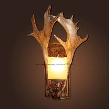 Antler Wall Sconce Online Get Cheap Wall Lighting Fixture With Antlers Aliexpress