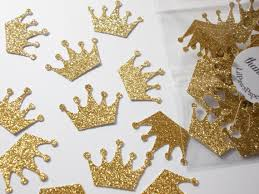 princess crown confetti princess decorations gold glitter