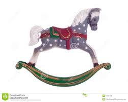 Christmas Cutout Decorations Vintage Rocking Horse Christmas Decoration Royalty Free Stock