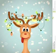 cute reindeer painting funny reindeer with christmas lights