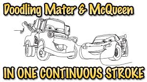 lightning mcqueen u0026 mater doodle in one stroke youtube
